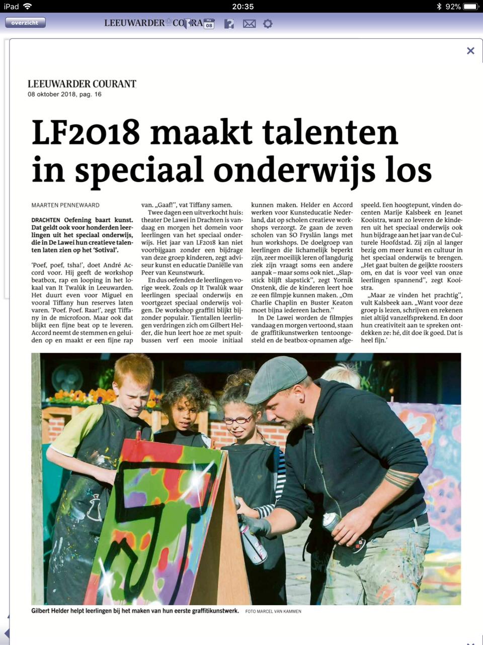 Artikel Leeuwarder Courant SOTIVAL