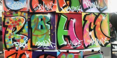 Graffiti Presentatie Speciaal Onderwijs Festival